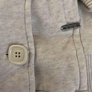 Roxy Jackets & Coats - Roxy Double Breasted, Hooded Sweatshirt Jacket